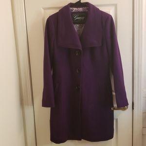 Guess Purple Peacoat Medium Petite
